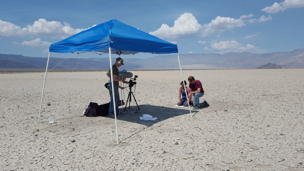 Full Brain Films filming in Death Valley.